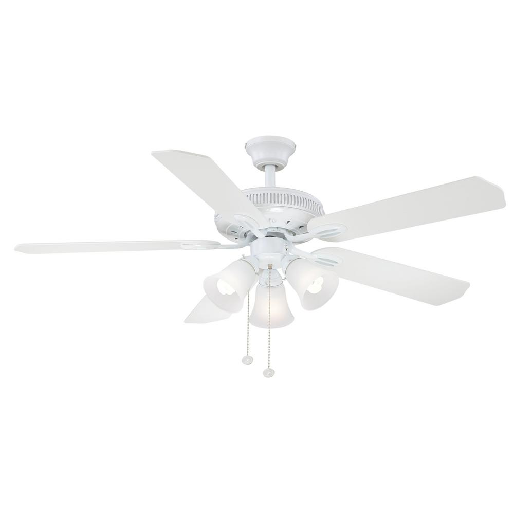 Hampton bay glendale 52 in indoor brushed nickel ceiling fan with indoor brushed nickel ceiling fan with light kit ag524 bn the home depot mozeypictures Gallery