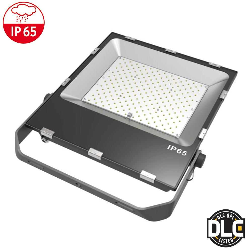 200-Watt 110 Black Finish Integrated LED Outdoor Flood Light