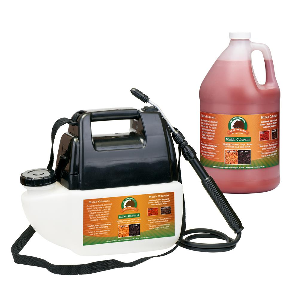 Just Scentsational 1 Gal. Red Mulch Colorant with Battery Operated Sprayer Applicator