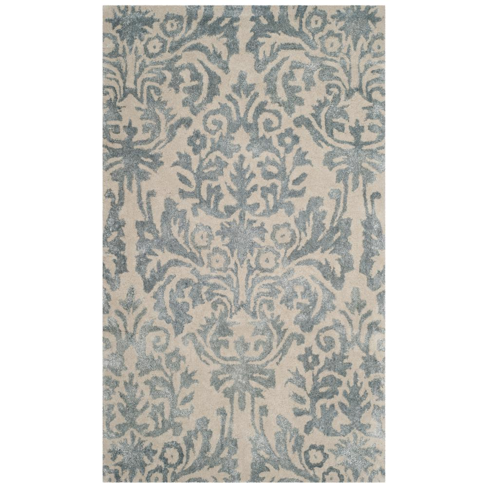 79d8df457 Safavieh Bella Ivory Silver 3 ft. x 5 ft. Area Rug-BEL156A-3 - The ...