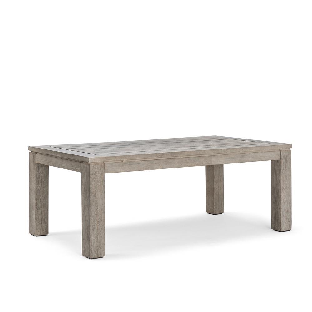Laurel Weathered Whitewash Wood Outdoor Coffee Table