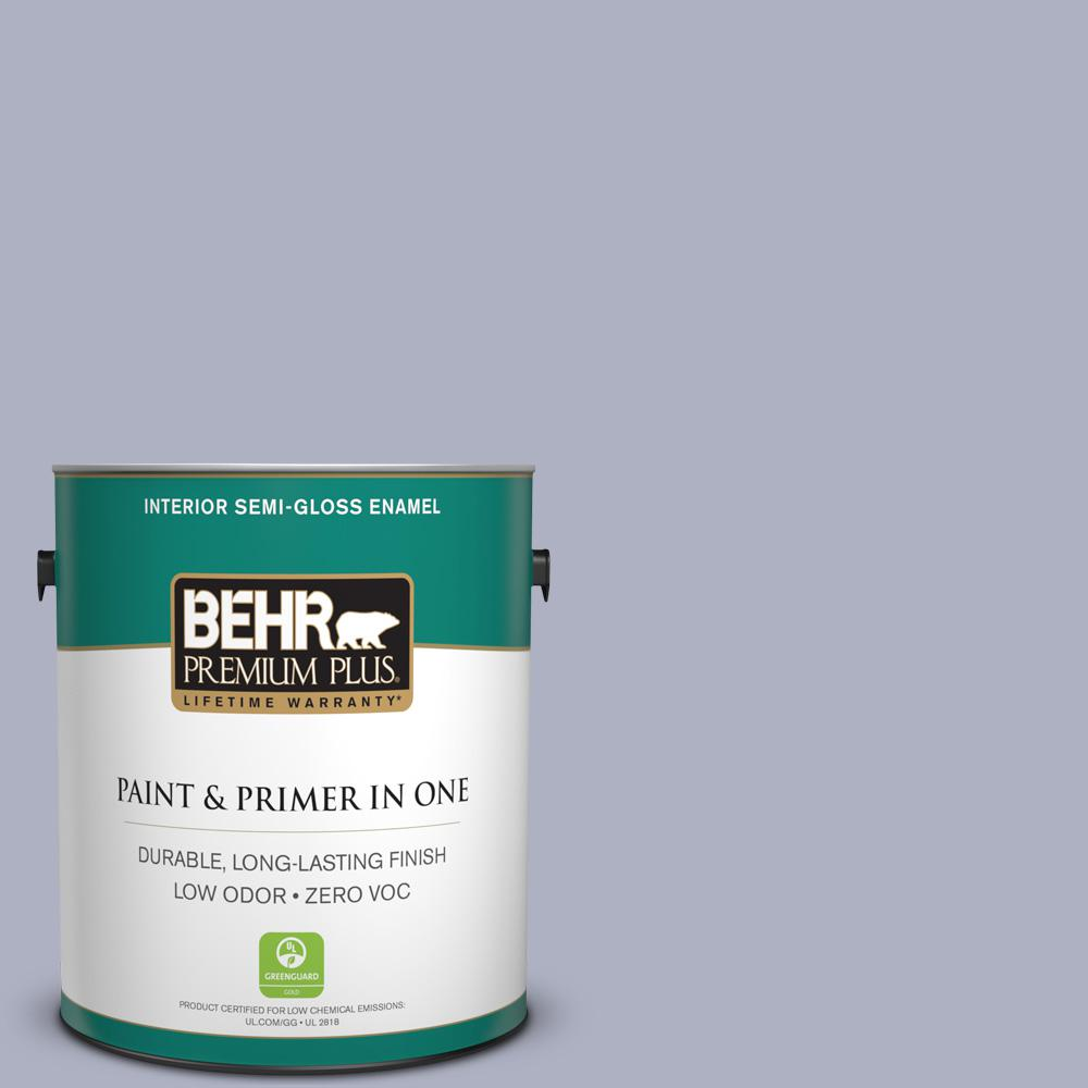 BEHR Premium Plus 1-gal. #S550-3 Chivalrous Semi-Gloss Enamel Interior Paint