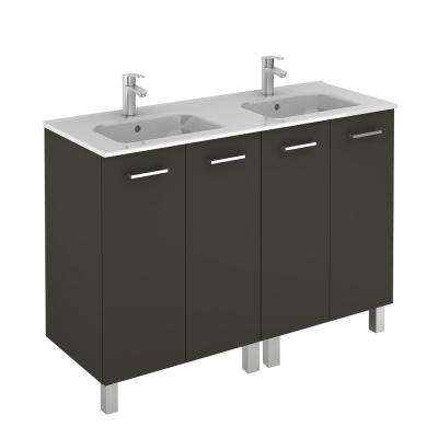 Unit 48 in. SAPHIR 2D Anthracite with Royal Ceramic Top