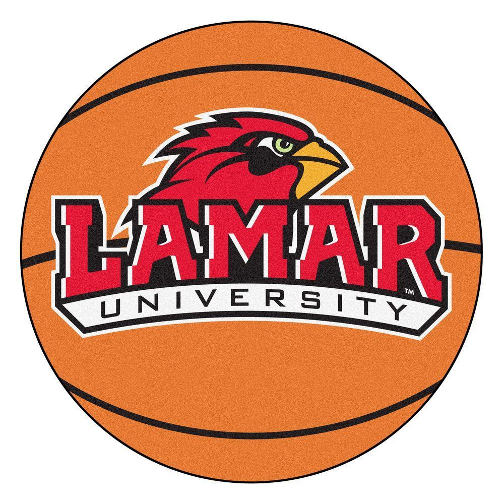 FANMATS NCAA Lamar University Orange 2 ft. x 2 ft. Round Area Rug