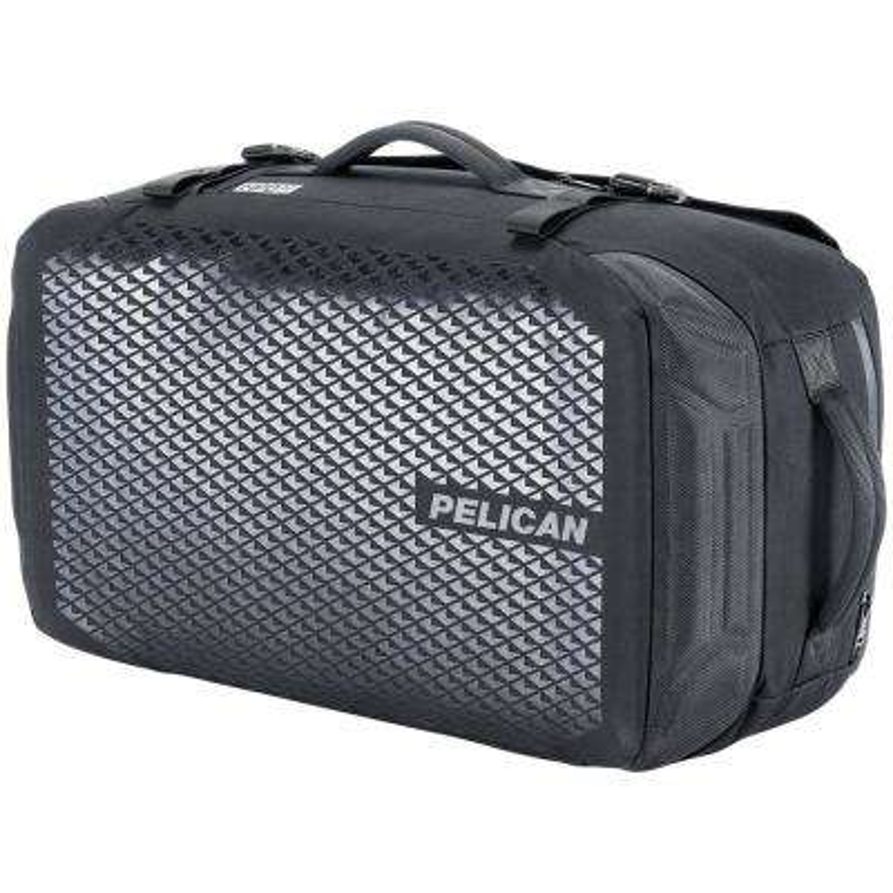 17.32 in. Black Water-Resistant Duffel Bag