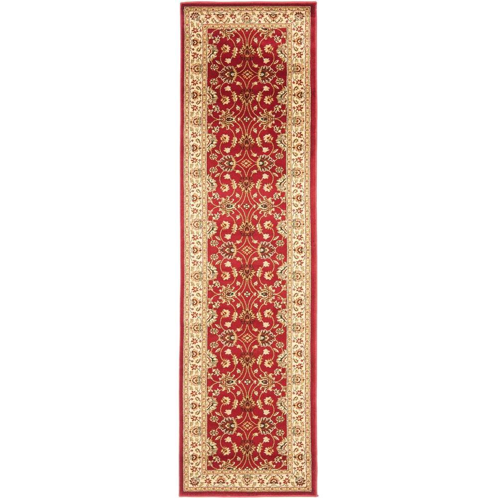 Safavieh Lyndhurst Red/Ivory 2 ft. 3 in. x 16 ft. Runner