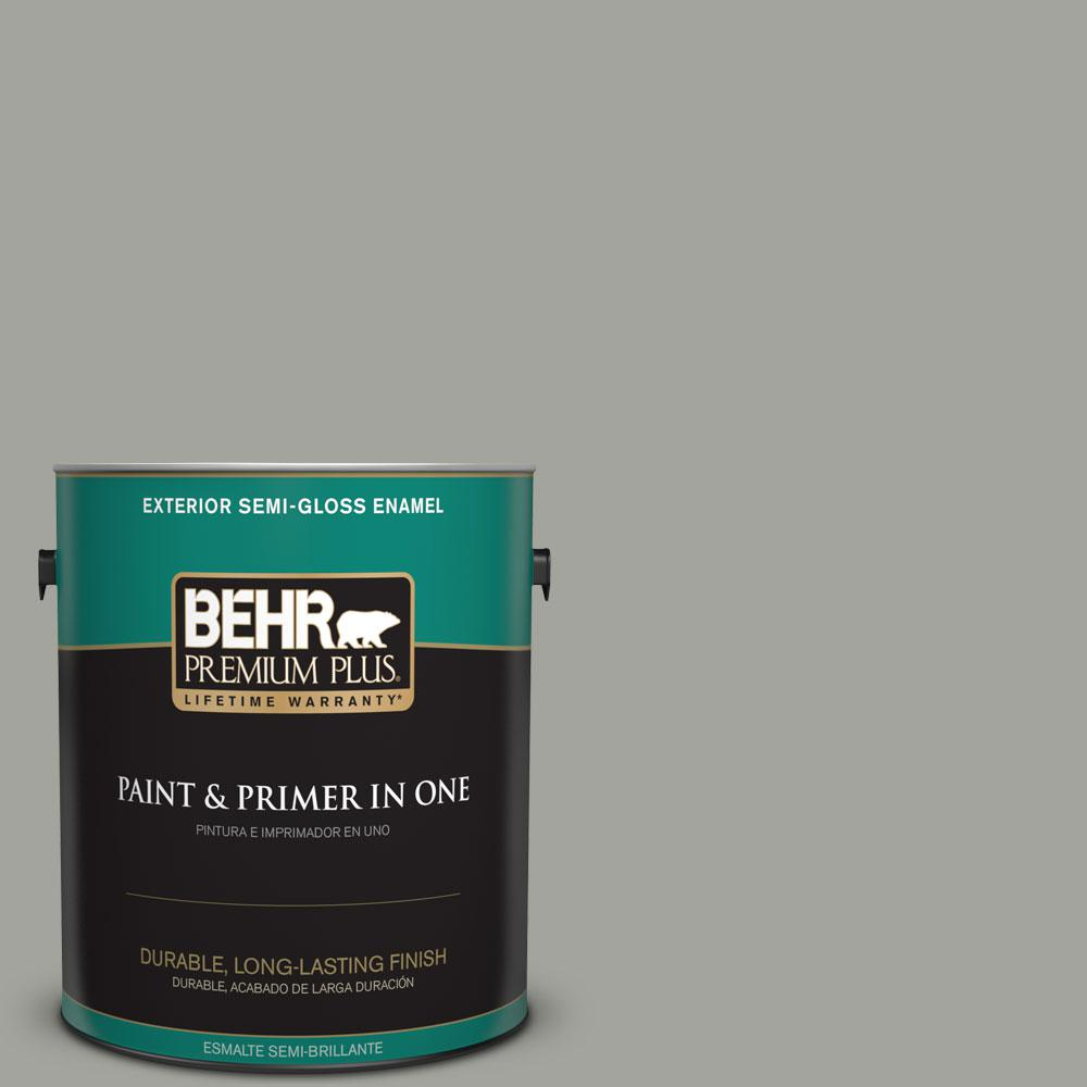 1-gal. #N380-4 Strong Winds Semi-Gloss Enamel Exterior Paint