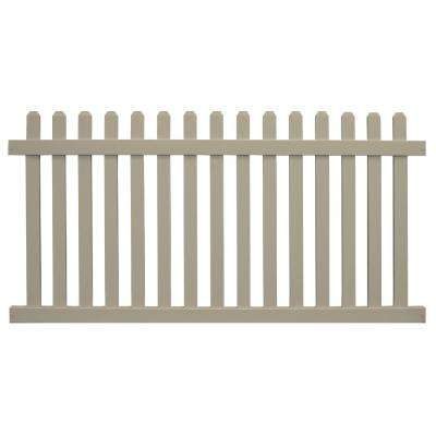 Chelsea 3 ft. H x 6 ft. W Khaki Vinyl Picket Fence Panel Kit