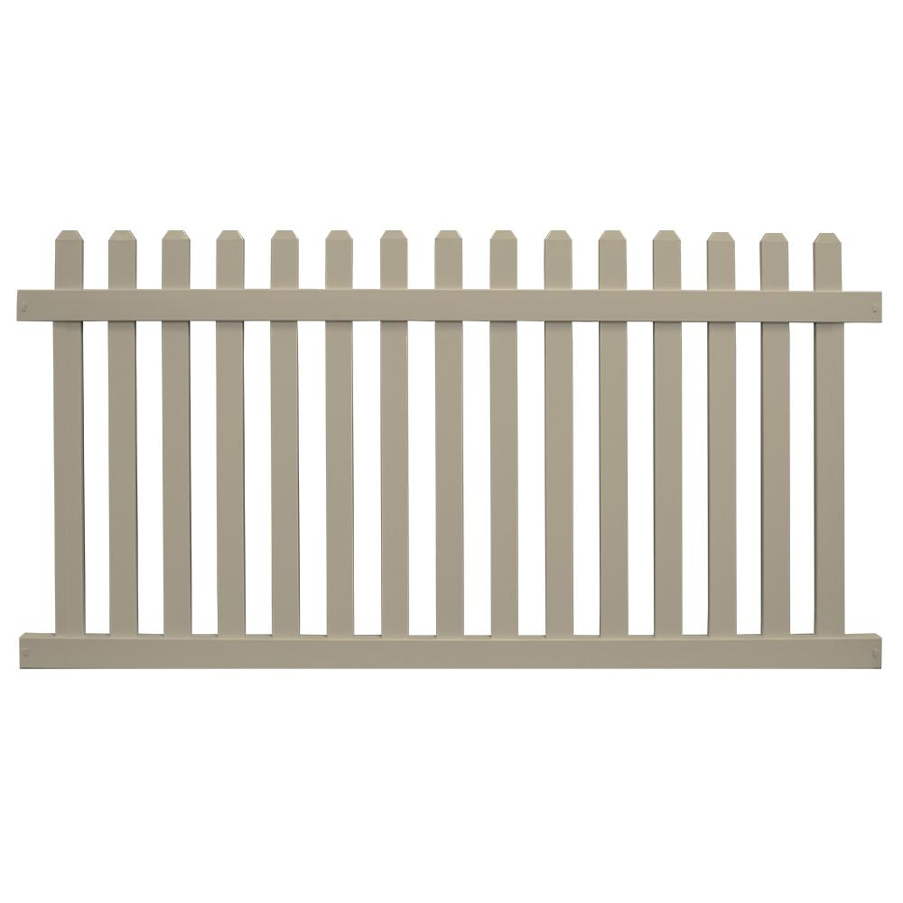 Chelsea 5 ft. H x 8 ft. W Khaki Vinyl Picket