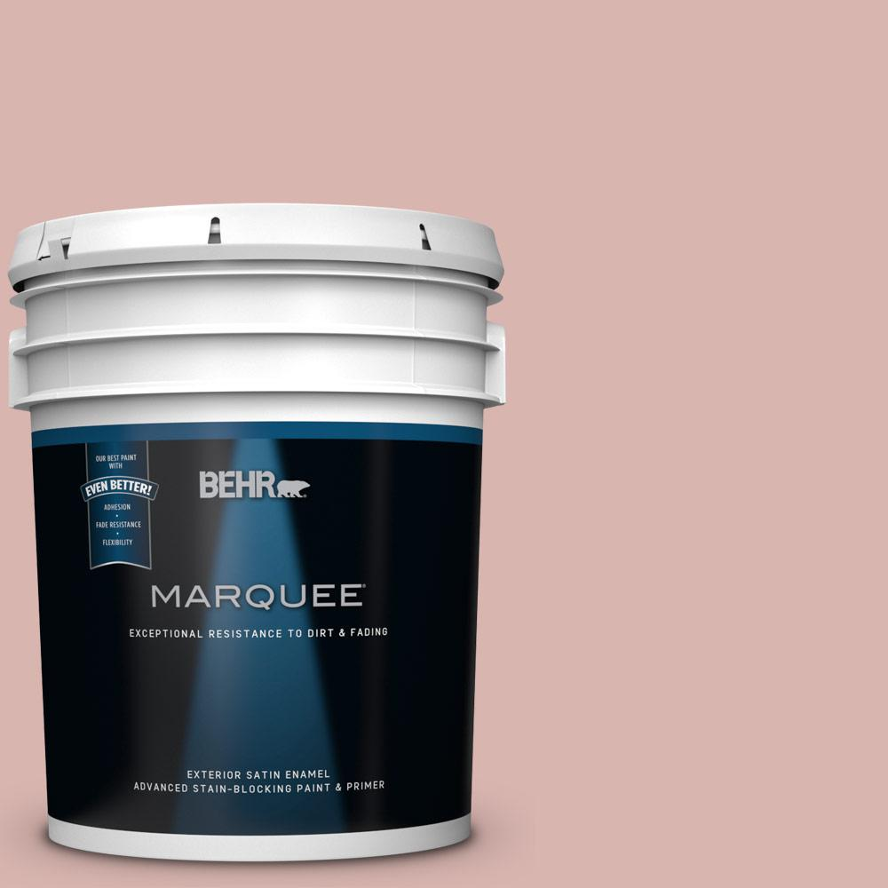 BEHR MARQUEE 5 gal. #170E-3 Bridal Rose Satin Enamel Exterior Paint ...