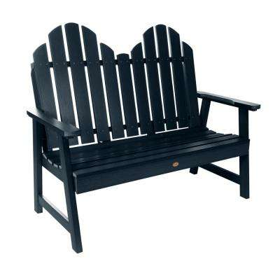 Classic Westport 48 in. 2-person Federal Blue Recycled Plastic Outdoor Garden Bench
