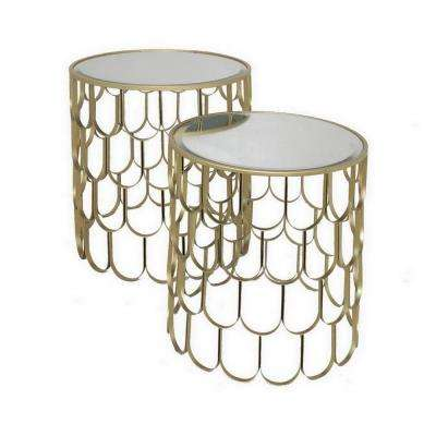 20 in. Gold Accent Table (Set of 2)