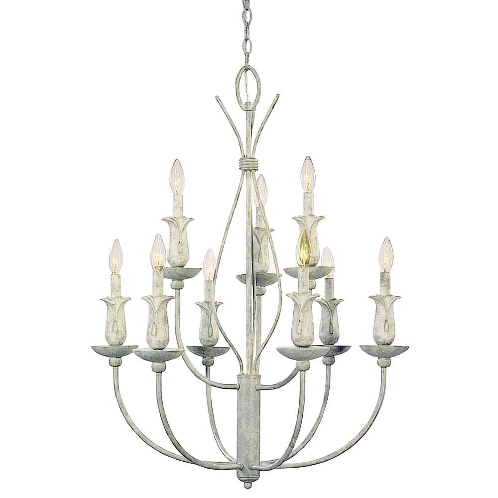 Volume Lighting Lafayette 9-Light Castle Beige Chandelier