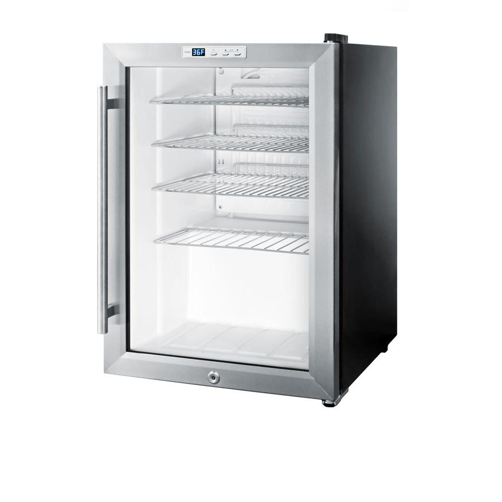 Summit Appliance 2 5 Cu Ft Glass Door Mini Fridge In