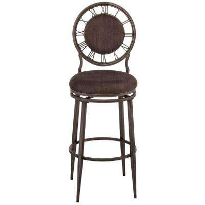 Big Ben 30 in. Pewter Swivel Cushioned Bar Stool