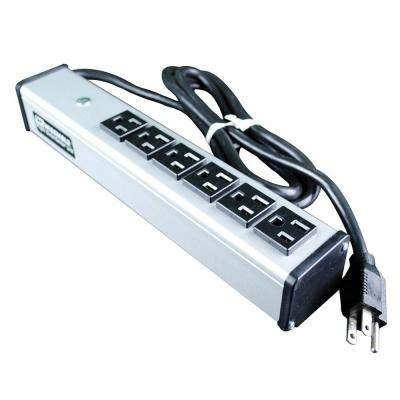 6-Outlet 15-Amp Compact Power Strip, 15 ft. Cord