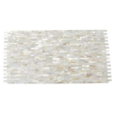 Mother of Pearl White Bricks Shell Mosaic Floor and Wall Tile - 3 in. x 6 in. Tile Sample
