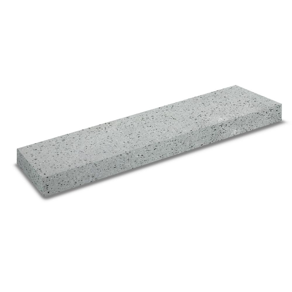 25 in. x 4 in. Solid Surface Countertop Backsplash in Atoll