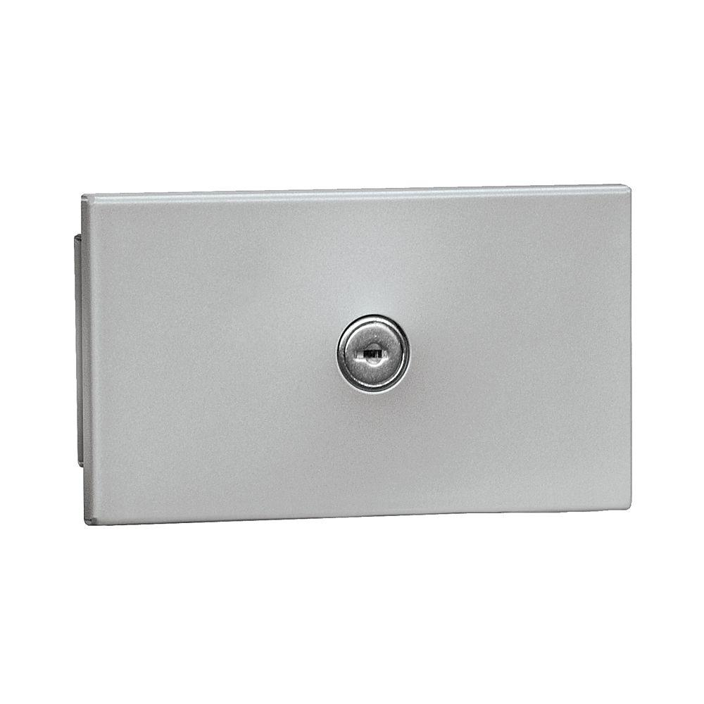 Salsbury Industries 1090 Series Private Recessed Mounted Key Keeper with Commercial Lock in Aluminum