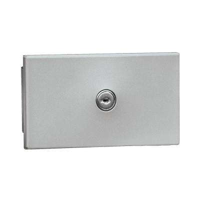 1090 Series Private Recessed Mounted Key Keeper with Commercial Lock in Aluminum