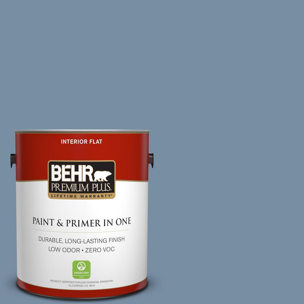 BEHR Premium Plus 1-gal. #S510-4 Jean Jacket Blue Flat Interior Paint