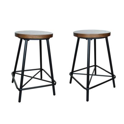 Illona 24 in. Elm Counter Stool (Set of 2)
