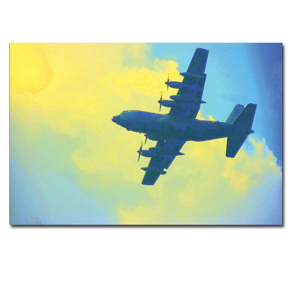 Trademark Fine Art 24 in. x 16 in. Blue Daze Canvas Art-PT014 ...