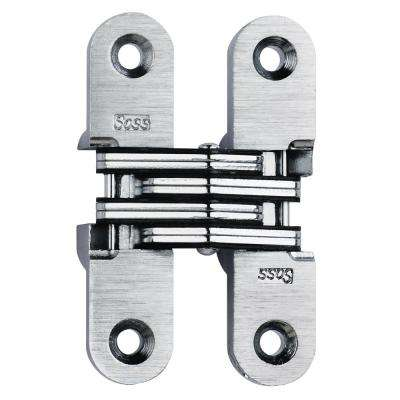 5/8 in. x 2-3/4 in. Satin Chrome Invisible Hinge
