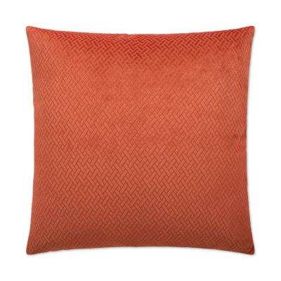 Flex Paprika Feather Down 24 in. x 24 in. Standard Decorative Throw Pillow