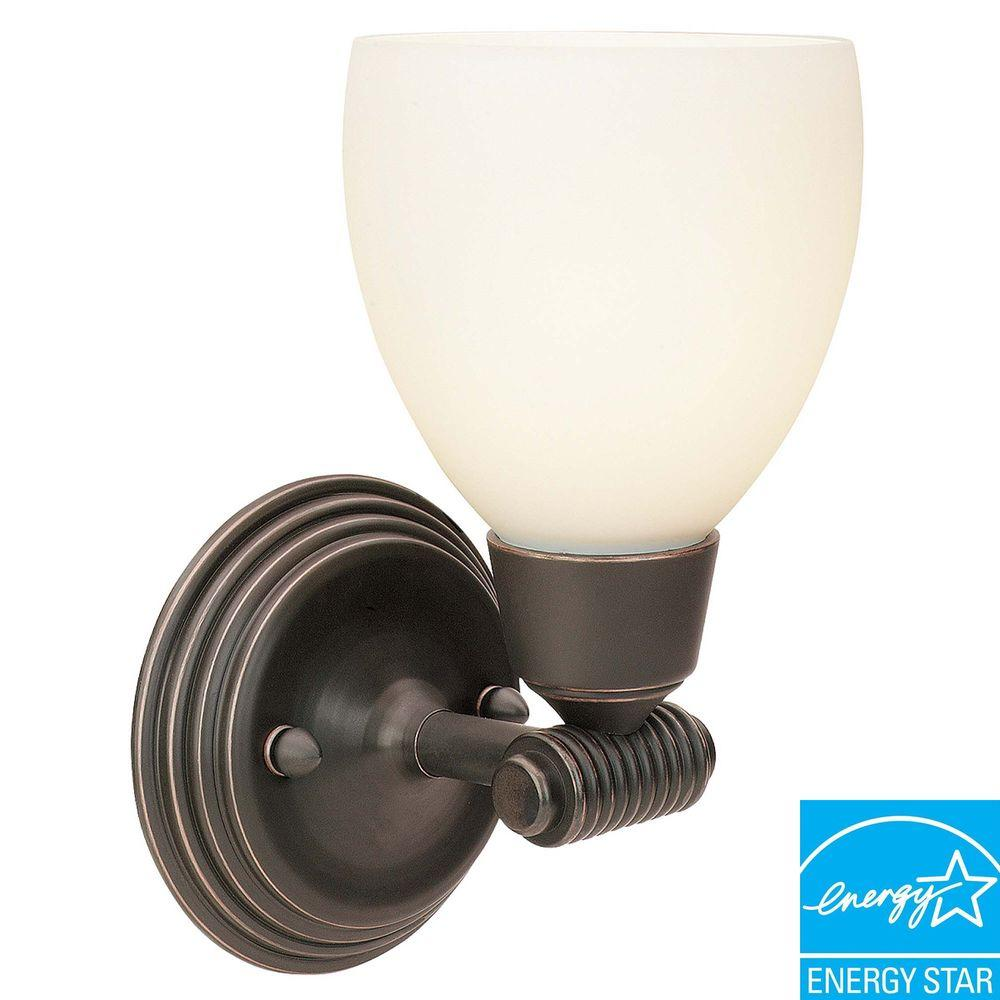 Access Lighting 1 Light Vanity Oil Rubbed Bronze Finish Opal Glass-DISCONTINUED