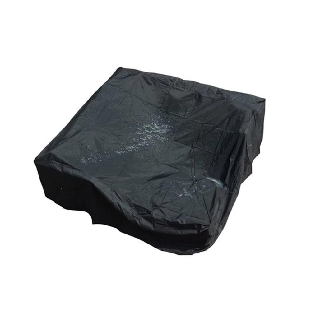 DIRECT WICKER Bambi 91 in. x 28 in. Black Square Patio Dining and Sofa Set Cover