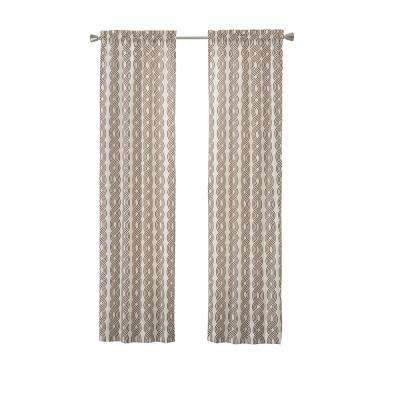 Light Filtering Chocolate Smooth Poly/Cotton Rod Pocket Curtain