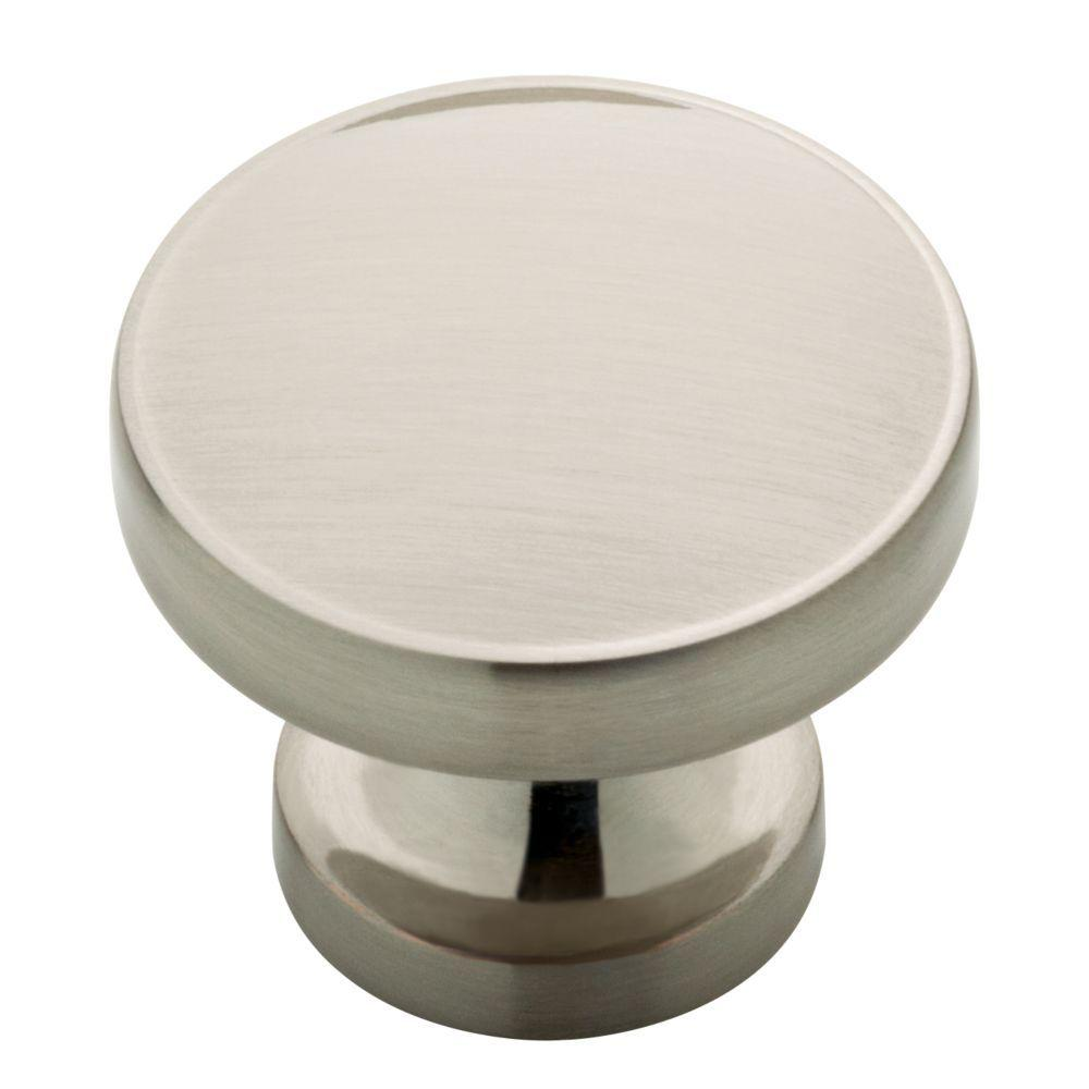 liberty phoebe 1 1 3 in 34mm satin nickel round cabinet knob rh homedepot com where to buy kitchen cabinet knobs where to buy cabinet knobs in san francisco