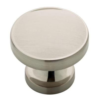 Phoebe 1-1/3 in. (34mm) Satin Nickel Round Cabinet Knob