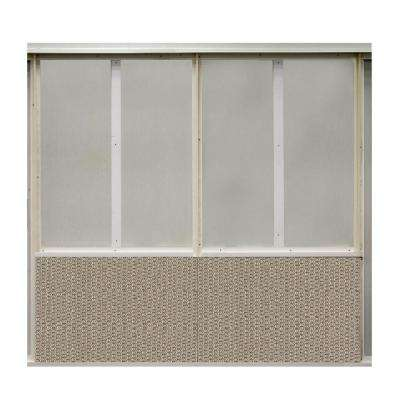 20 sq. ft. Welded Steel Fabric Covered Bottom Kit Wall Panel