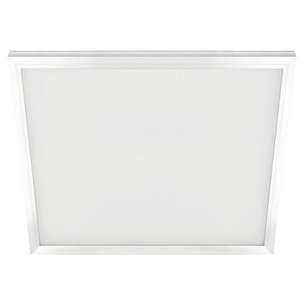Commercial Electric 2 Ft X 2 Ft White Led Edge Lit Flat