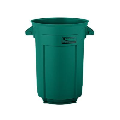44 Gal. Dark Green Commercial Trash Can