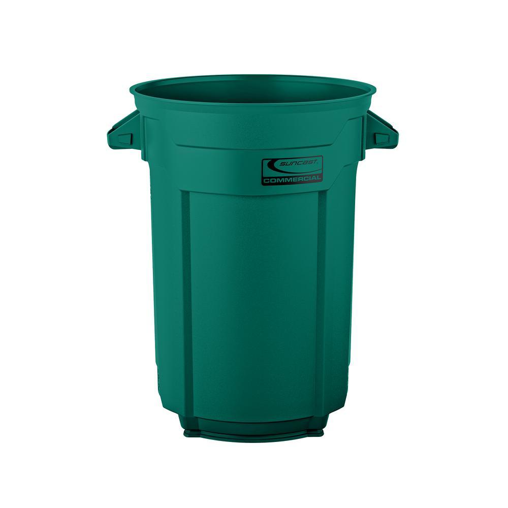44 Gal. Dark Green Commercial Trash Can