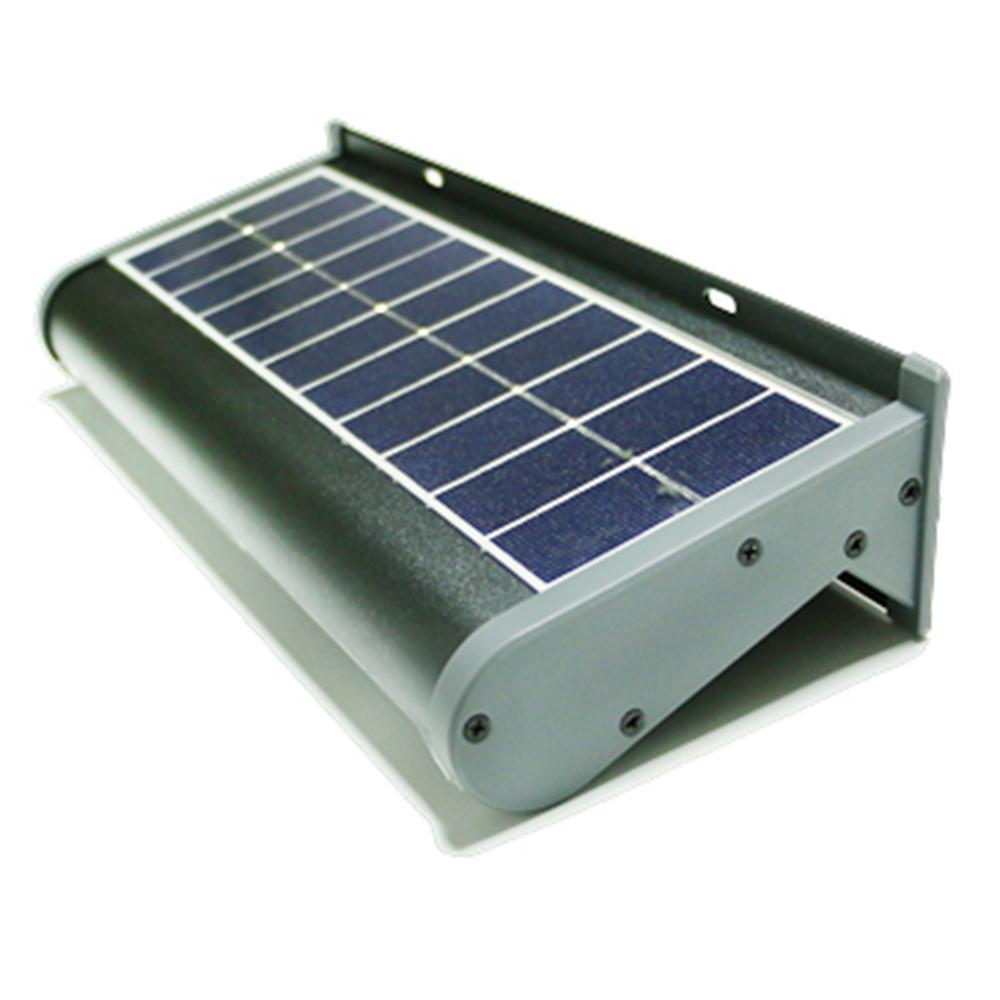 Eleding Solar Powered 5 Watt Gray Outdoor Integrated Led