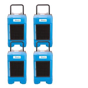 225-Pint Commercial Dehumidifier in Blue for Water Damage Restoration Mold Remediation (4-Pack)