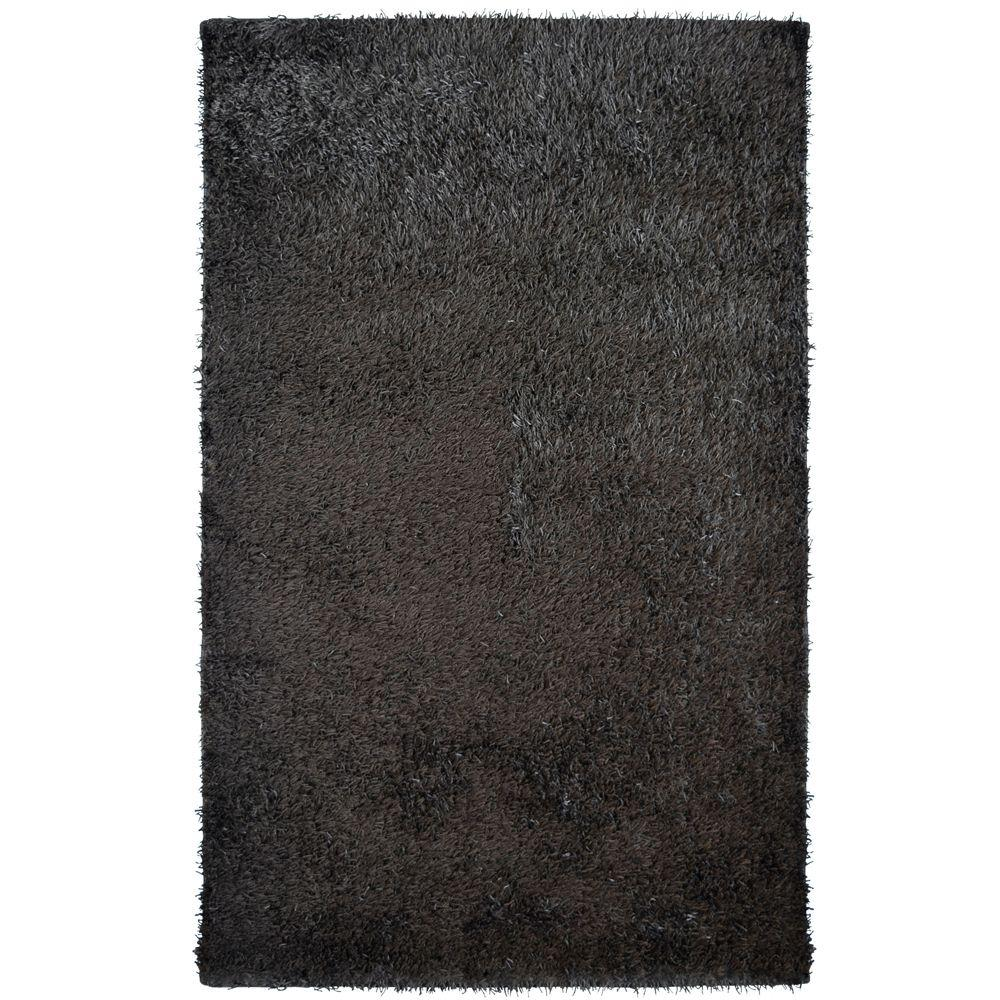 Home Decorators Collection City Sheen Espresso Polyester 8 ft. x 10 ft. Area Rug