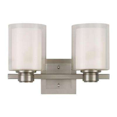 Oslo 2-Light Satin Nickel Indoor Wall Mount