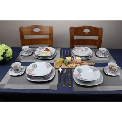 20-Piece Casual Shiny Finish Porcelain Dinnerware Set (Service for 4)