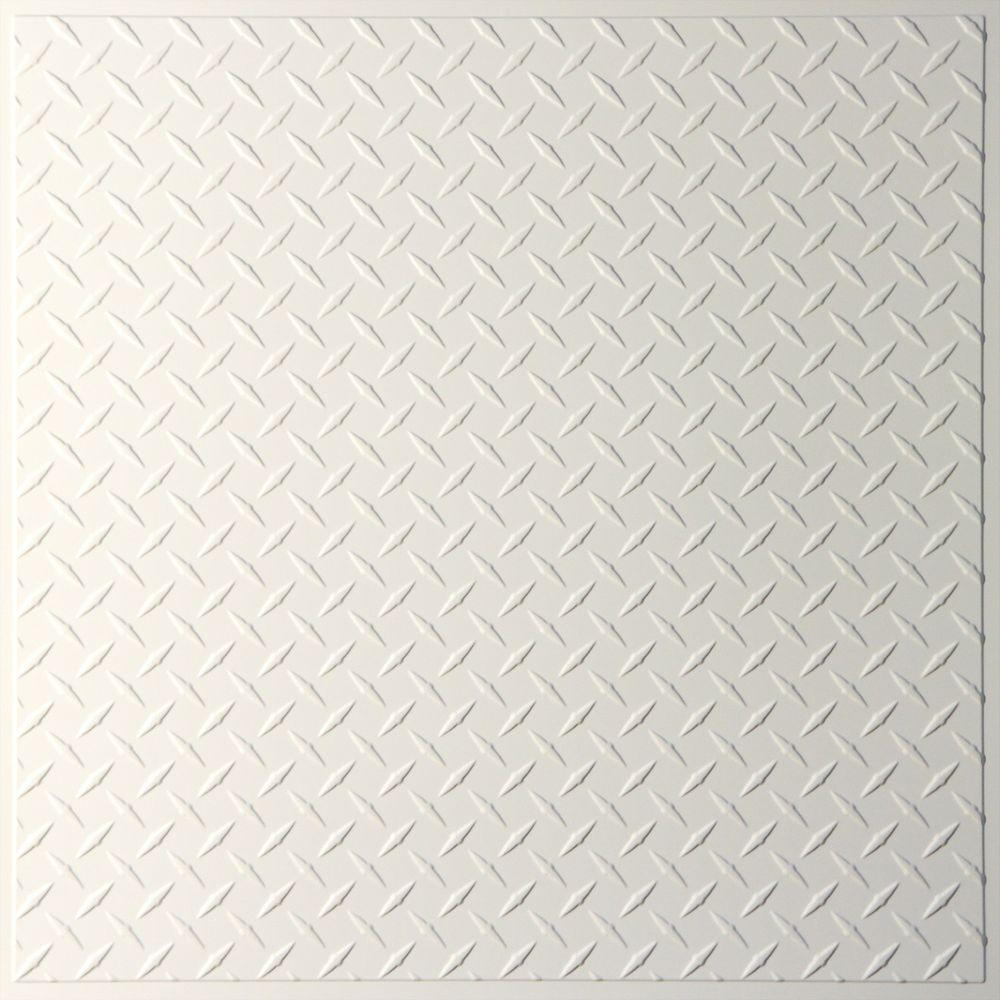 Ceilume Diamond Plate Sand 2 ft. x 2 ft. Lay-in or Glue-up Ceiling Panel (Case of 6)