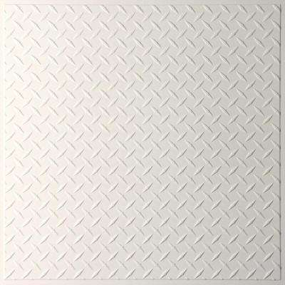 Diamond Plate Sand 2 ft. x 2 ft. Lay-in or Glue-up Ceiling Panel (Case of 6)