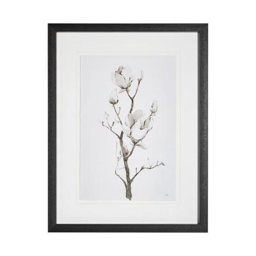 Magnolia II Flower Framed Art Print (33 in. x 43 in.)