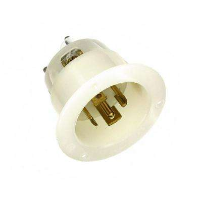 277 volt 30 amp electrical plugs & connectors wiring devices  30 amp 277 480 volt 3 phase flanged inlet grounding locking outlet,