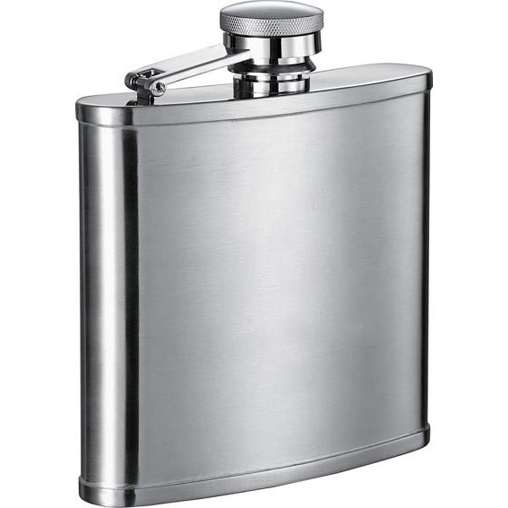 Visol Edge Satin Stainless Steel 14 Oz Liquor Flask Vf1127 The Home Depot