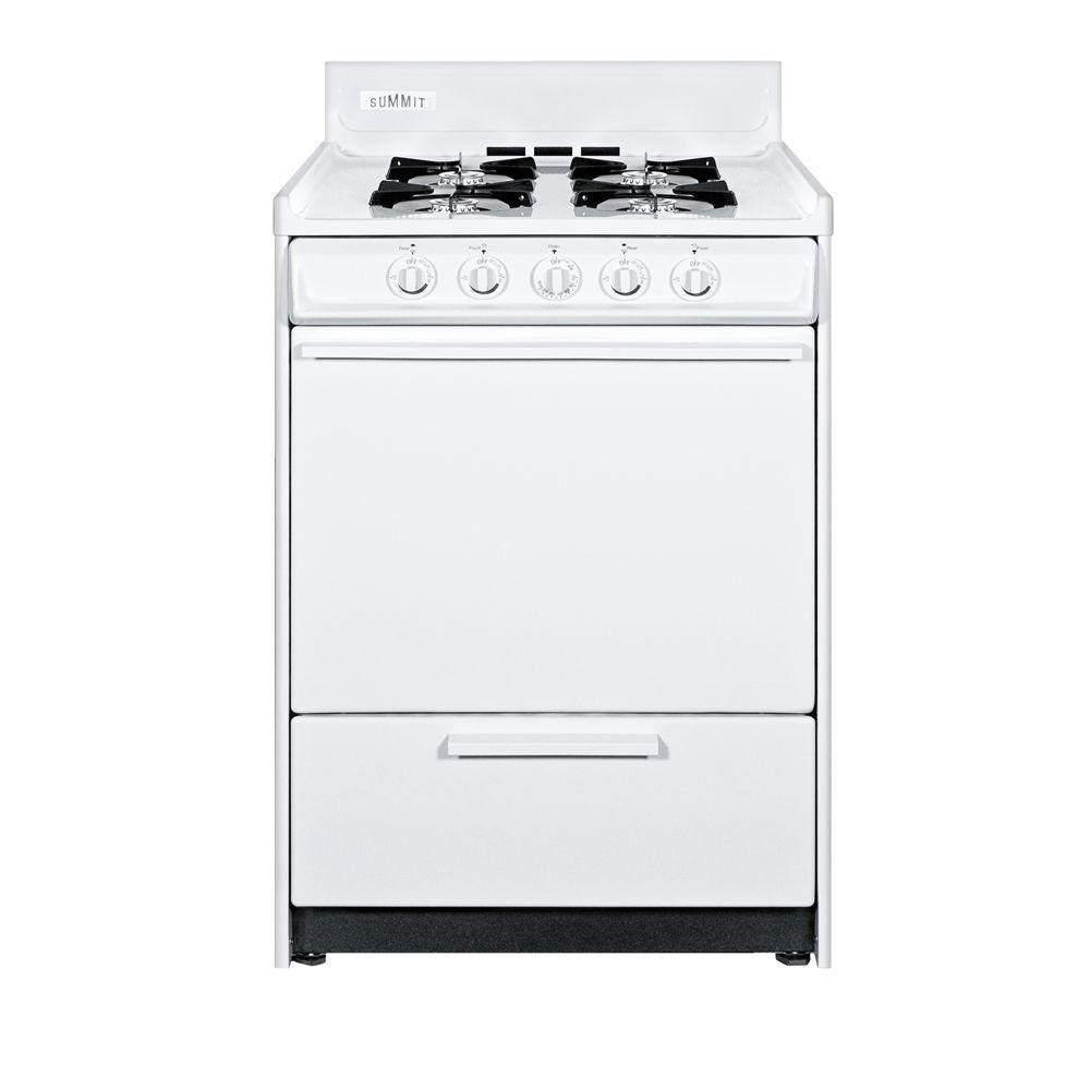 Summit Appliance 24 in. 2.92 cu. ft. Gas Range in White