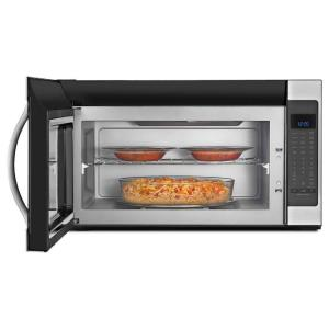 5 Whirlpool 2 0 Cu Ft Over The Range Microwave In Stainless Steel